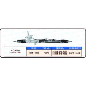 12019 HONDA ODYSSEY RB1 53601-SFG-W01 / 53601-SFG-W02 Steering Rack