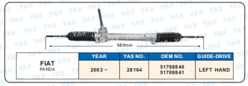 28164 Hydraulic Steering Gear/ steering rack for FIAT PANDA 51708840, 51708841