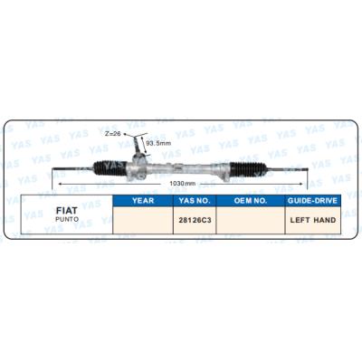 28126C3  Hydraulic Steering Gear/ steering rack for FIAT PUNTO