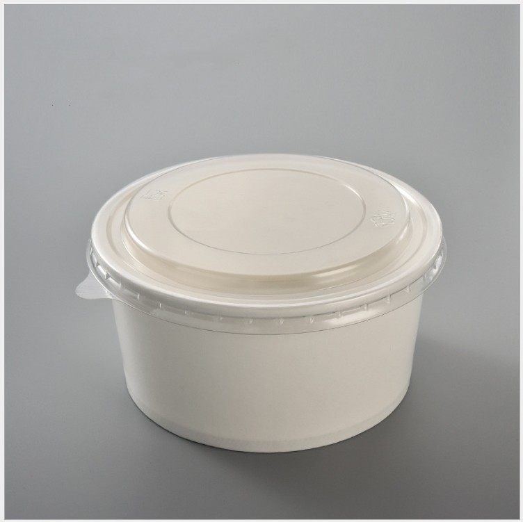 white pulp biodegradable bowl with