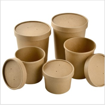 Sugar cane pulp biodegradable kraft bowl with lids customized pattern and size