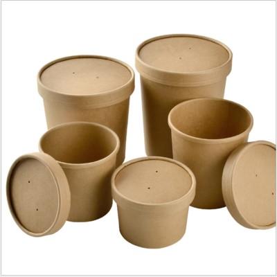 Sugar cane pulp biodegradable kraft bowl with lids