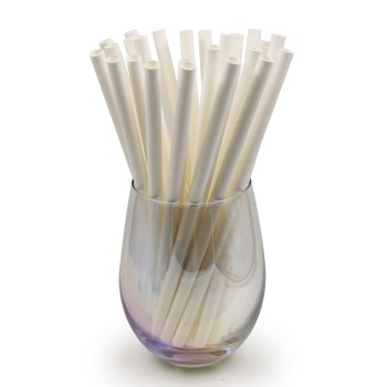 6mm Degradable white Paper Straw