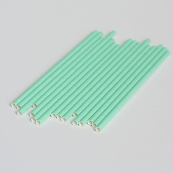 6 mm分解性ミントグリーンペーパーストロー