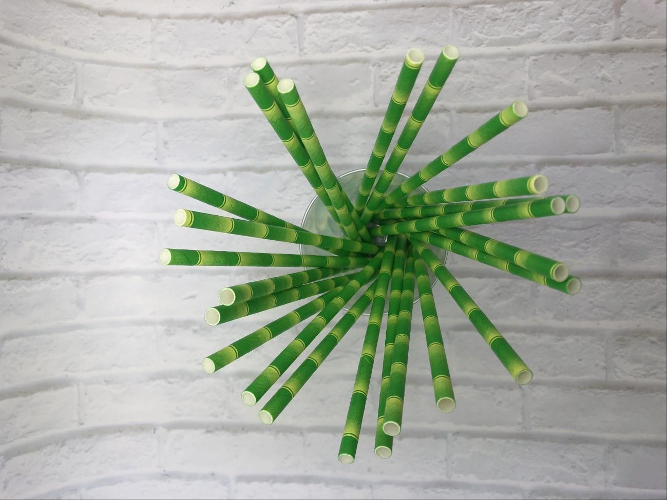 6mm Green bamboo Paper Straw