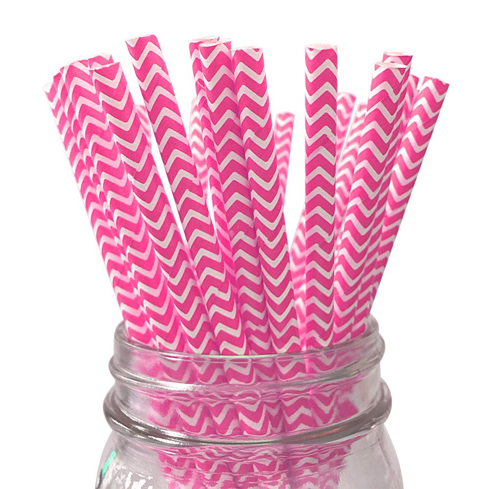 ink chevron striped Paper Straw