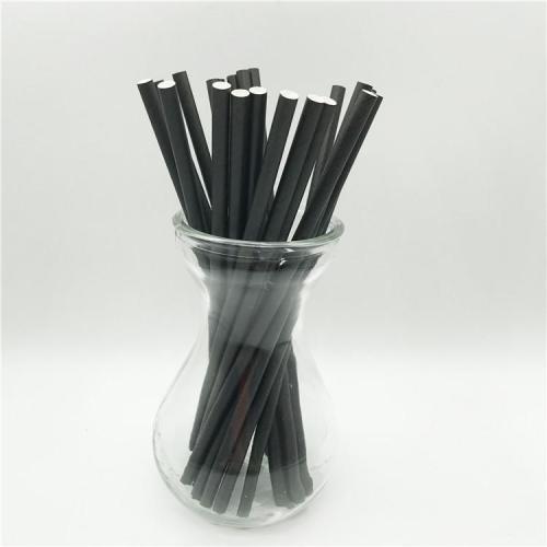 無料サンプル使い捨て飲料生分解性紙ストローストライプ紙ストローブラック紙ストロー