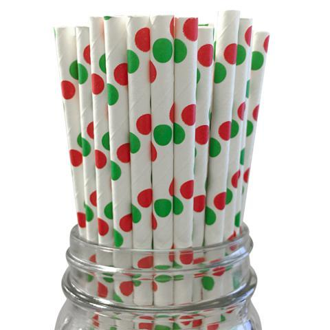 6mm Degradable Christmas Paper Straw