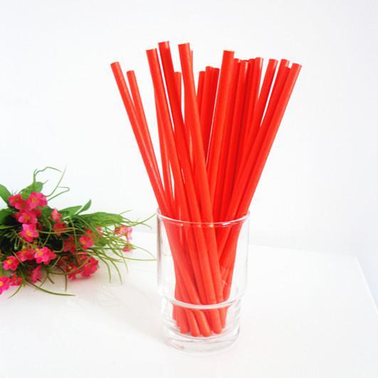 6mm Degradable red Paper Straw