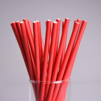 Wedding Red Paper Straw Decorations Disposable Drinking Straws Decorative for Party Table Decor