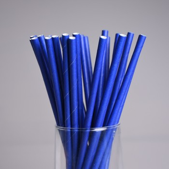 6mm Spuntree China supplier FSC safe paper straw Disposable Individually custom blue Paper Straws