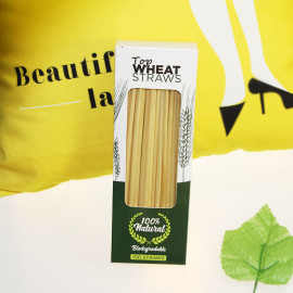 100per Box純粋で自然な健康と環境保護の分解可能な超微細な長い麦わら
