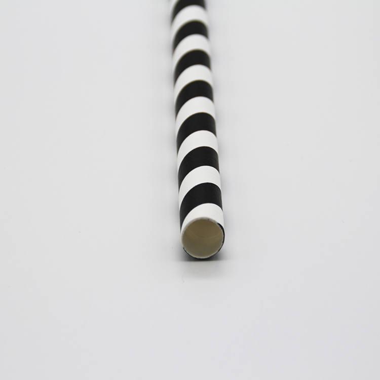 8mm green stripes Paper Straw