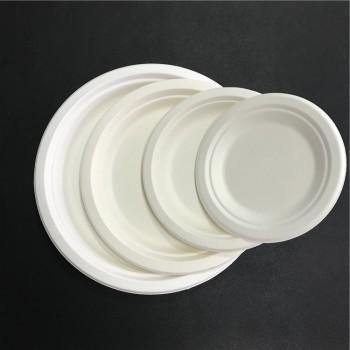 Coffee house OEM Food grade Bagasse paper plate wholesale