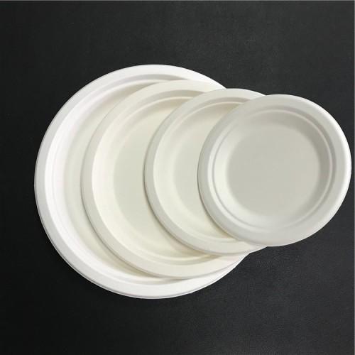 ホット販売高品質コーヒーハウスOEM食品グレードバガス紙皿卸売