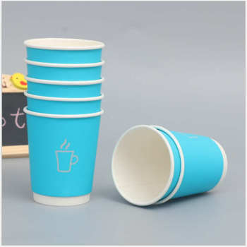 Hot sale high quality coffee house OEM 57oz Food grade Kraft blue paper cup Wholesale