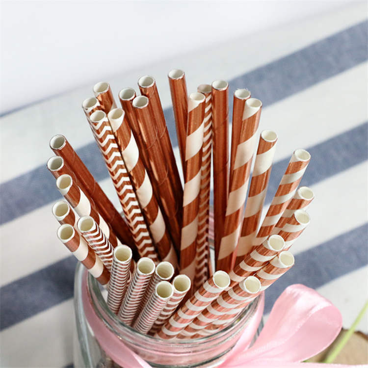 Hot stamping Paper Straws