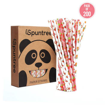 6mm eco friendly recyclable reusable hot sale  Degradable fruit Paper Straw