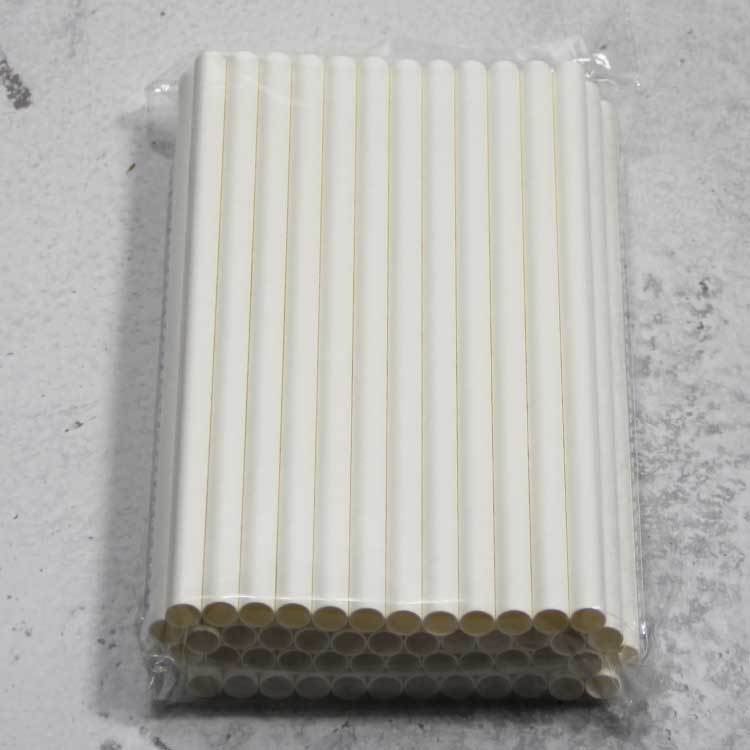 10mm white paper straw
