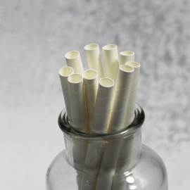 10mm FDA Custom  Biodegradable degradable Paper Drinking Straw white Paper Straw