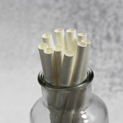 10mm FDAの注文の生物分解性の分解可能なペーパー飲料のストローの白いペーパーストロー