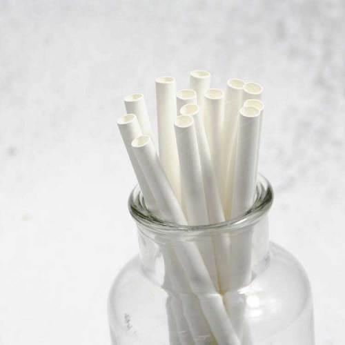 6 mmスパンツリーホットセール分解性生分解性飲酒ホワイトペーパーストロー