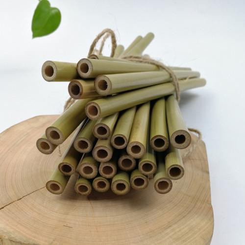 カスタマイズされたロゴとクランピングブラシを備えた8mm 100%天然竹製ストロー
