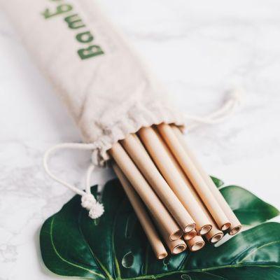 カスタマイズされたロゴで飲む熱い販売有機エコ再利用可能な竹ストロー
