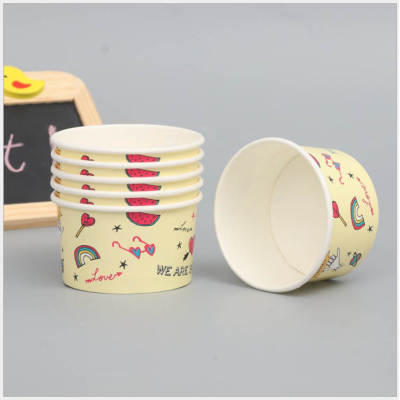 Hot sale high quality colorful custom printing disposable small cake ice cream paper cup