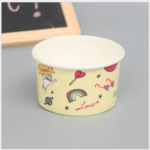 ホット販売高品質カラフルなカスタム印刷使い捨て小さなケーキアイスクリーム紙コップ