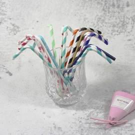 6mm Spuntree FDA material special bendable kraft paper straws