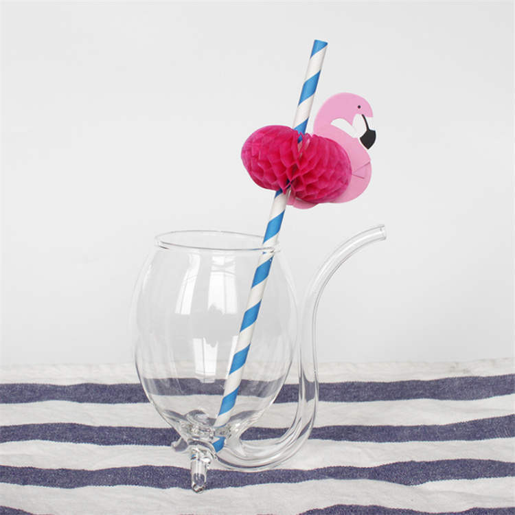 Flamingo decorative straw