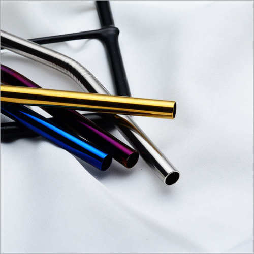 8mm corlorful高品質環境に優しい再利用可能な曲げ飲む304ステンレス鋼ストロー