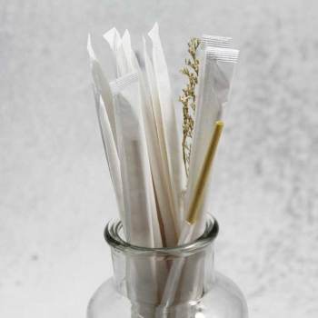 自然な環境に優しいリサイクルされた個々に包まれた生分解性ストローパーティーのための小麦飲料紙ストロー