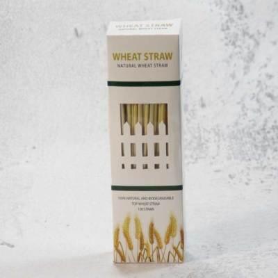 100per Box 4mm工場価格オーガニック天然小麦ストローエコフレンドリーライ麦ストロー販売