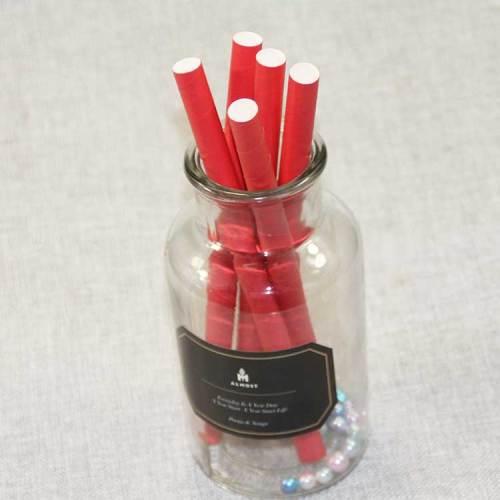 卸売12mmバブルティー飲料ラップ紙ストローカスタム赤安い生分解性紙ストロー