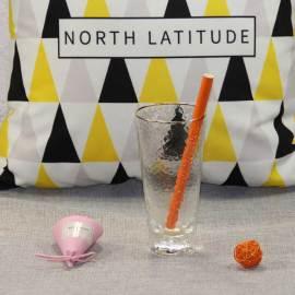 Large caliber milk tea orange paper straws party decoration