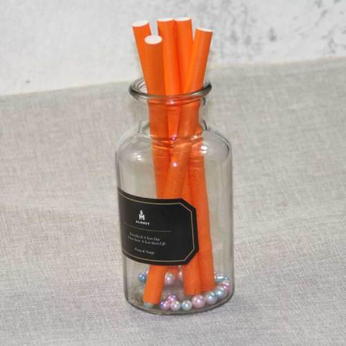 12MM大口径ミルクティー紙ストローカラークリエイティブデザートテーブルジュースドリンクパーティー装飾