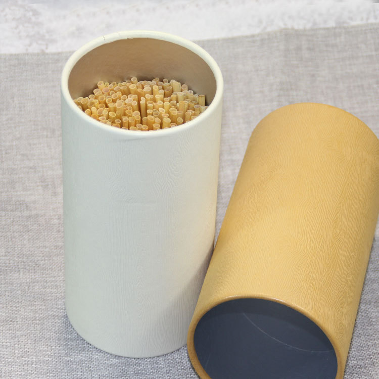Paper tube with straw