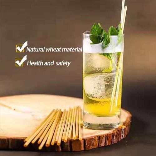 工場価格オーガニック天然小麦ストロー小麦飲料ストローエコフレンドリーライ麦ストロー販売
