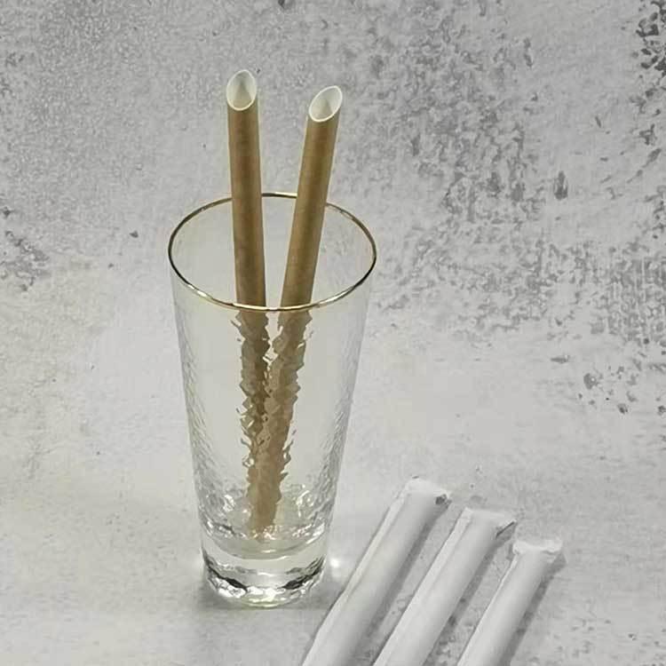 Single wrapper straw