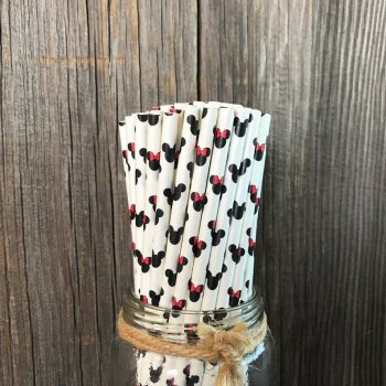 Spunree Disney Mickey Minnie paper drinking straws in biodegradable materials by china manufacturer