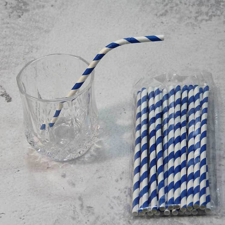 Bendable paper drinking straws in biodegradable materials