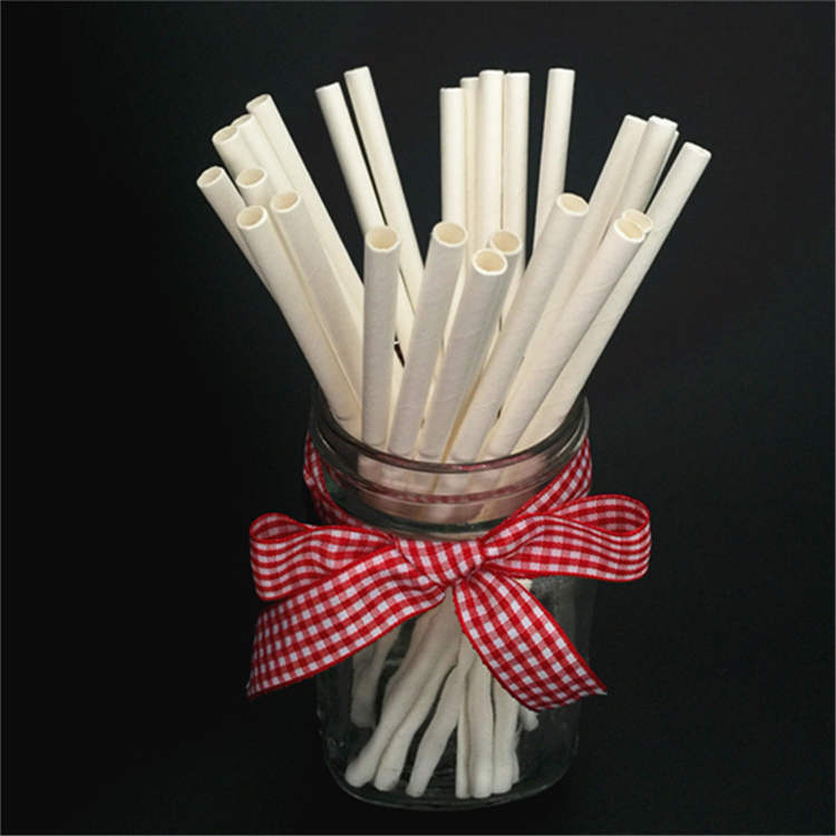 5.5'' Cocktail Milkshake White Paper Straws
