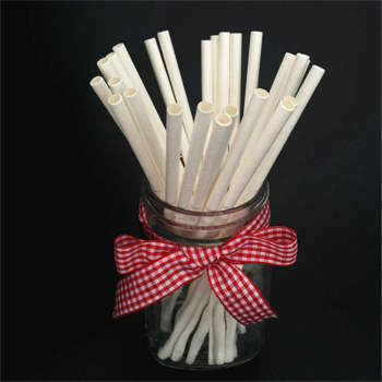 Wholesales Ecofriendly Compost Paper Straws Biodegradable Cocktail Drinking Paper Straws for Juices