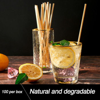 100% Biodegradable Compostable Disposable Natural Drinking Wheat Straw
