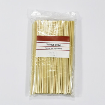 2019 BEST SELLER compostable eco-friendly Natural disposable wheat straw reed straw