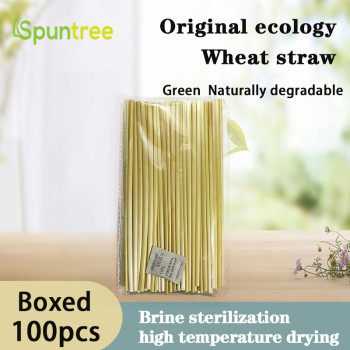 100 opp bag Pure natural health and environmental protection degradable ultra-fine long wheat straw