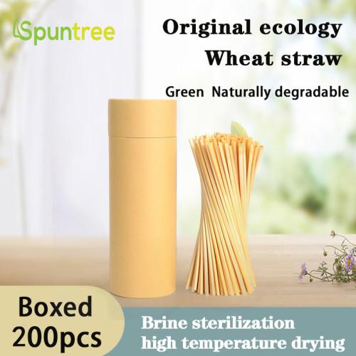工場価格卸売天然小麦ストロー小麦飲料ストローエコフレンドリーライ麦ストロー販売