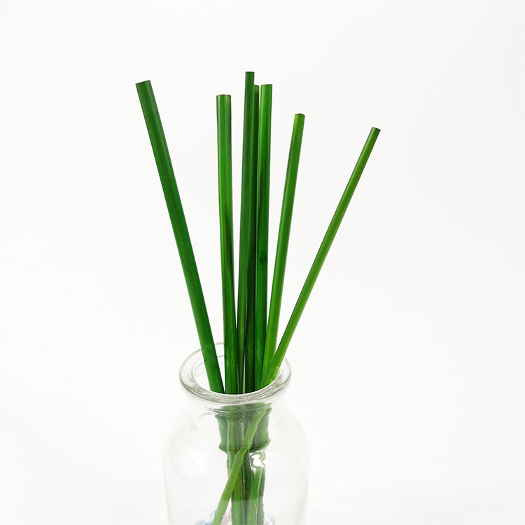 Colored straw woven material
